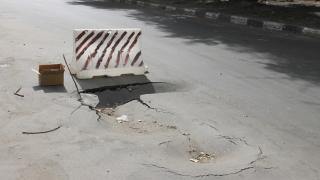На отремонтированной Брянской улице провалился асфальт