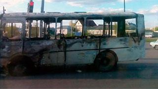 Автобус в Балашове сгорел сразу после установки газового баллона