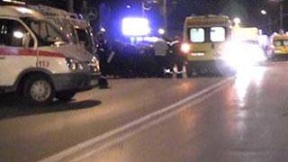 «ВАЗ» перевернулся возле аэропорта. Трое пострадали