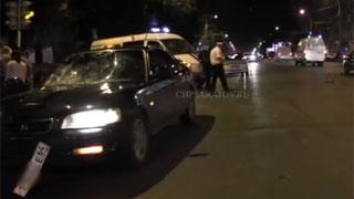 На Чернышевского «Хонда» сбила двоих пешеходов