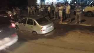 На Антонова под землю провалился автомобиль