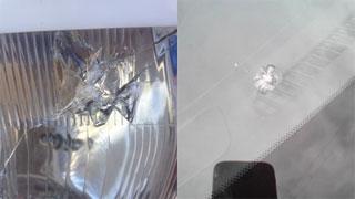Водители фотографируют разбитые на трассе Вольск-Балаково стекла автомобилей