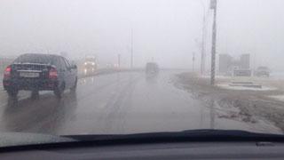 Туман и гололед вызвали множество ДТП на дорогах