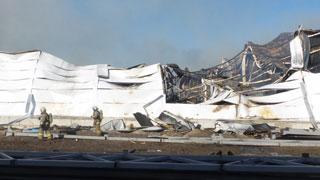 На фабрике «Король диванов» сгорел новый логистический комплекс