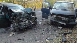 На трассе столкнулись четыре автомобиля. Есть пострадавшие