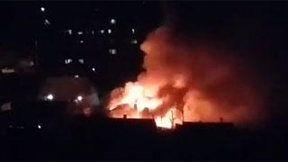 В Заводском районе сгорел дом на площади 450 кв.м