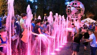 В Саратове открылся светомузыкальный Фонтан мира