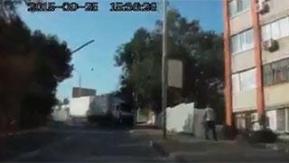 Момент смертельного ДТП с фурой записал видеорегистратор