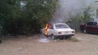 В Кировском районе сгорела «Ауди»