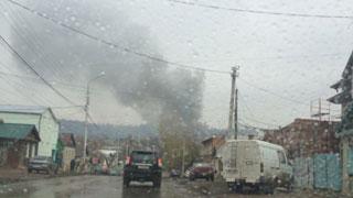 На Чапаева горел жилой кирпичный дом