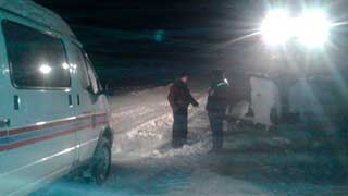 На границе с Саратовской областью 60 человек попали в «снежный плен»