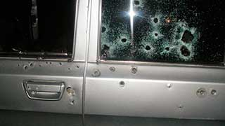 Неизвестные на «Приоре» расстреляли автомобиль под Ивантеевкой